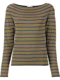 полосатая блузка с вырезом-лодочкой Sonia Rykiel