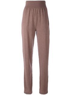 брюки с эластичным поясом и завышенной талией Lanvin
