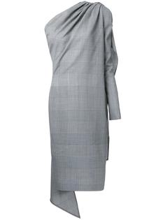 асимметричное клетчатое платье Gareth Pugh