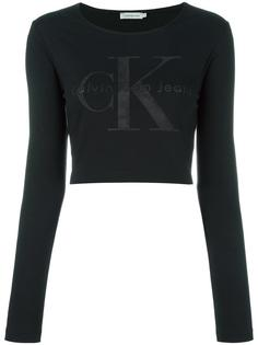 укороченная толстовка с логотипом Ck Jeans