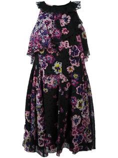 платье с цветочным рисунком Giamba
