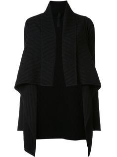 жаккардовое драпированное пальто Gareth Pugh