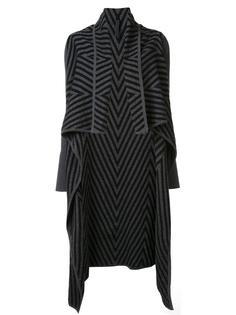 """драпированное пальто с узором """"шеврон"""" Gareth Pugh"""