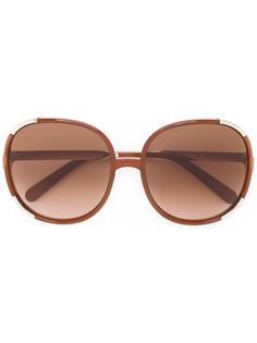 крупные солнцезащитные очки в квадратной оправе Chloé Eyewear