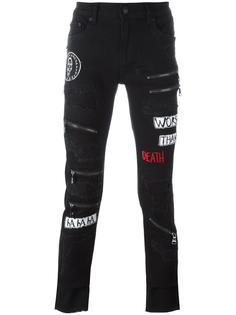 джинсы скинни с потертым эффектом Haculla