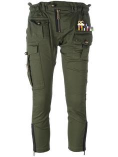 укороченные брюки Golden Arrow в стиле милитари Dsquared2