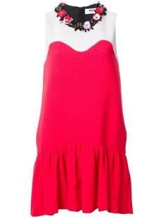 декорированное платье с заниженной талией MSGM