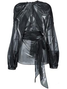 прозрачная драпированная блузка  Maison Margiela