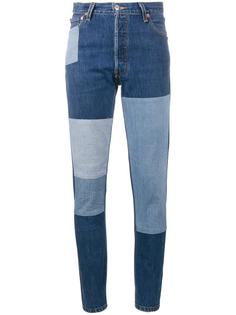 узкие джинсы в стиле пэчворк Re/Done