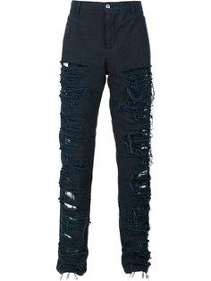брюки с поношенным дизайном Hood By Air