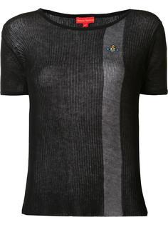 полупрозрачная футболка с контрастной полоской Vivienne Westwood Red Label