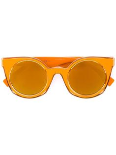 солнцезащитные очки в круглой оправе Fendi Eyewear