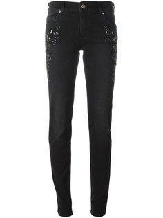 укороченные декорированные  джинсы Versace Jeans