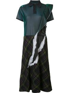 платье-рубашка комбинированного кроя Maison Margiela