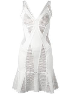 перфорированное расклешенное платье  Hervé Léger
