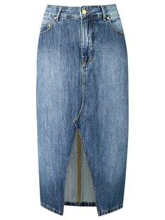 straight jeans skirt Amapô