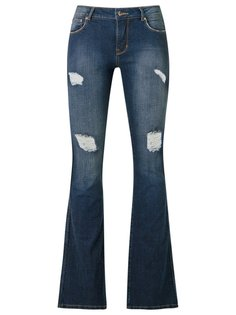 distressed flared jeans Amapô
