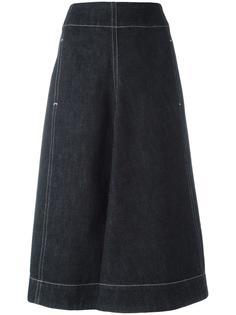джинсовая юбка с завышенной талией Lemaire