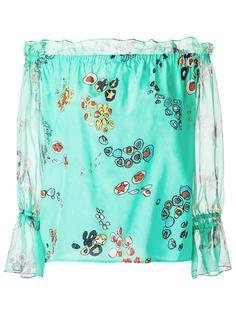 шелковая блузка с принтом Isolda
