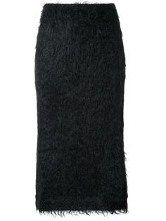 пушистая юбка Jil Sander