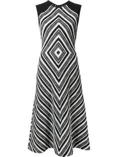 расклешенное платье с геометрическим узором Martin Grant