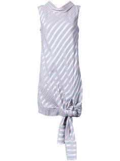полосатое платье с завязками на подоле Monse