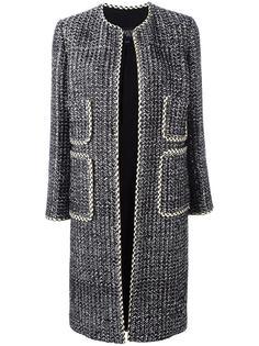 пальто без застежки с накладными карманами Giambattista Valli