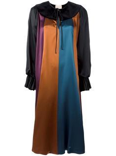 платье-шифт дизайна колор-блок Roksanda