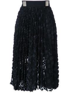 плиссированная юбка с люверсами Carven