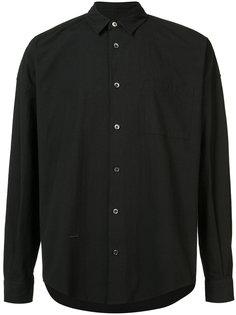 однотонная рубашка Robert Geller