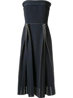 плиссированное перфорированное платье Dion Lee