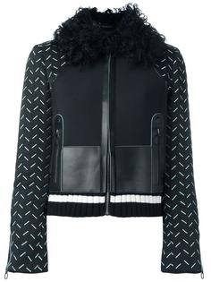 куртка-бомбер с воротником из овчины Versace