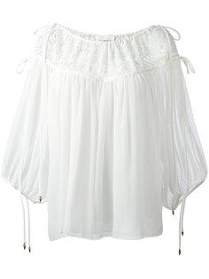 блузка из жатой ткани Chloé
