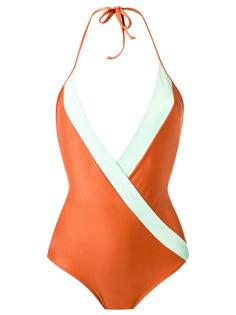 deep V neck swimsuit Adriana Degreas