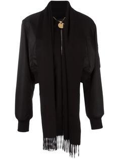 куртка-бомбер с лацканами-шарфом Givenchy