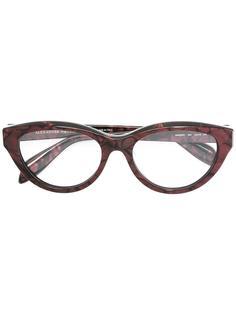 """очки с оправой """"кошачий глаз"""" Alexander Mcqueen Eyewear"""