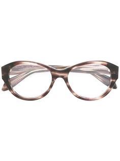 очки с круглой оправой Alexander Mcqueen Eyewear