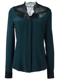 блузка с кружевной вставкой Emanuel Ungaro