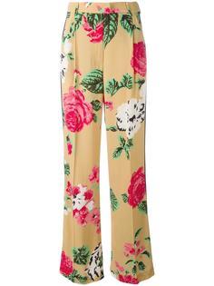 брюки с цветочным принтом MSGM