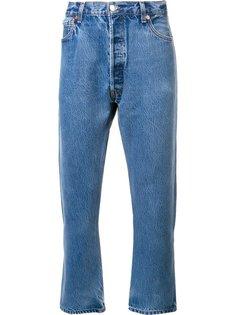 хлопковые прямые джинсы Re/Done