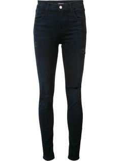 джинсы с рваными деталями J Brand