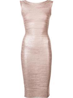 приталенное платье без рукавов Hervé Léger