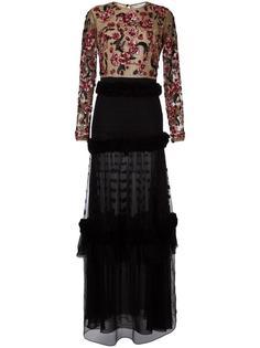 платье с цветочной вышивкой Zuhair Murad