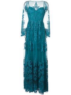 вечернее платье с прозрачными деталями и драпировкой Zuhair Murad