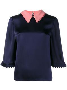 атласная блузка Demi Roksanda