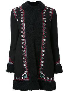 пальто с вышивкой с цветочным узором Vilshenko