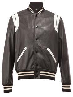 университетская куртка с монохромным узором Saint Laurent