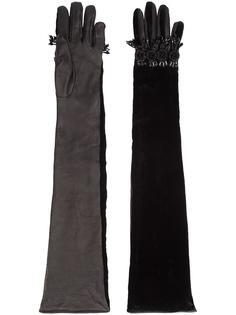 длинные декорированные перчатки Dsquared2