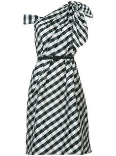 платье из тафты на одно плечо Carolina Herrera