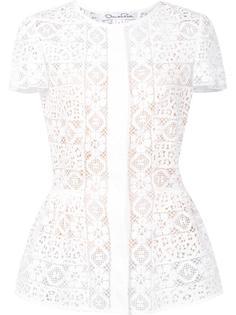 блузка из цветочного кружева Oscar de la Renta